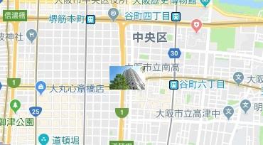 現在の大阪のマンション所在地図