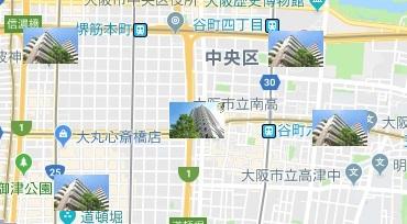 数年後の大阪のマンション所在地図