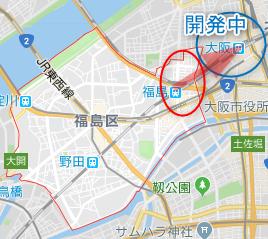 大阪市福島区のワンルーム投資エリア(詳細地図)