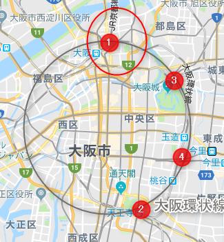 大阪市北区(地図)