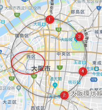 大阪市西区(地図)