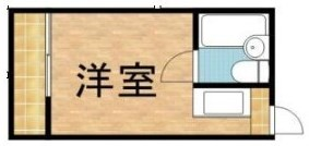 新宿ワンルームの間取り